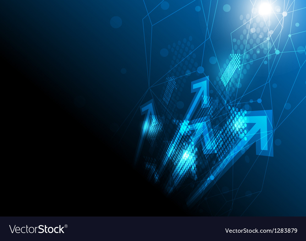 Networking concept background vector