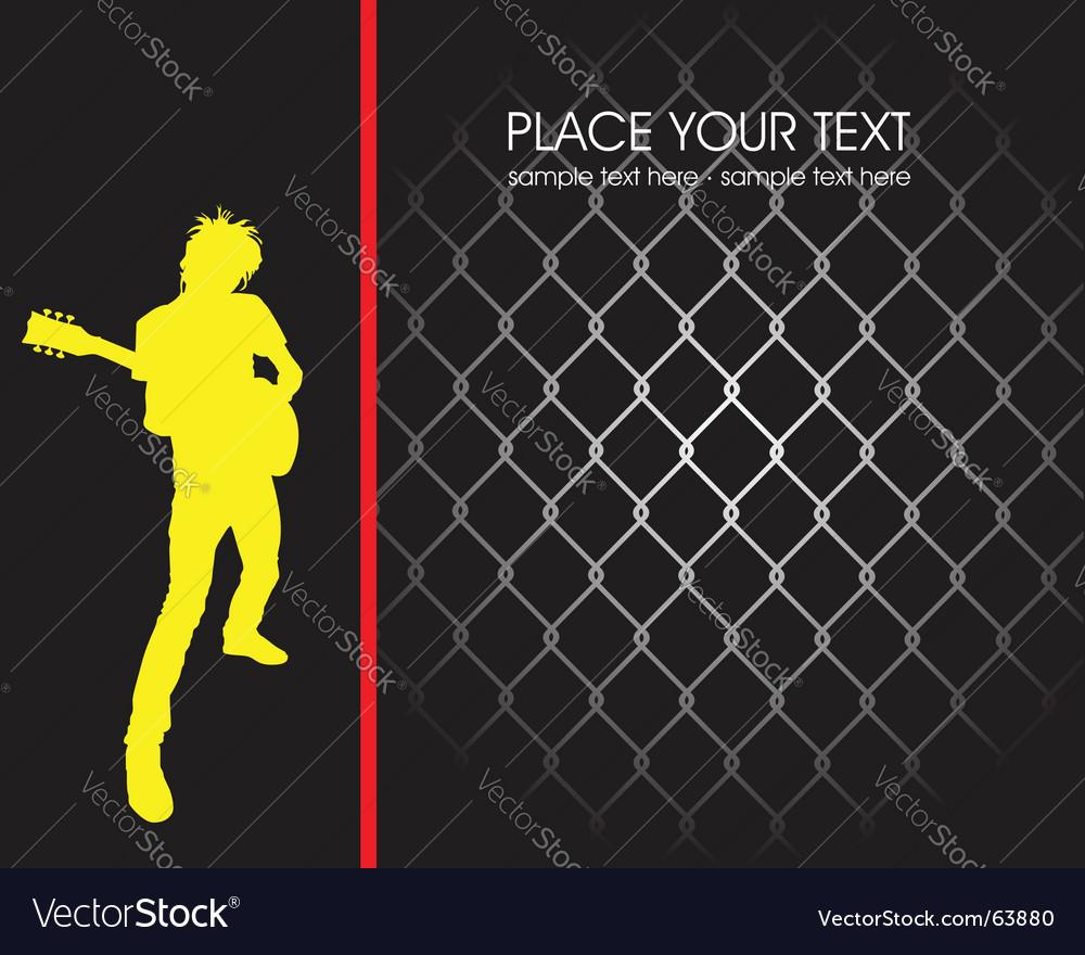 Grunge rock poster vector