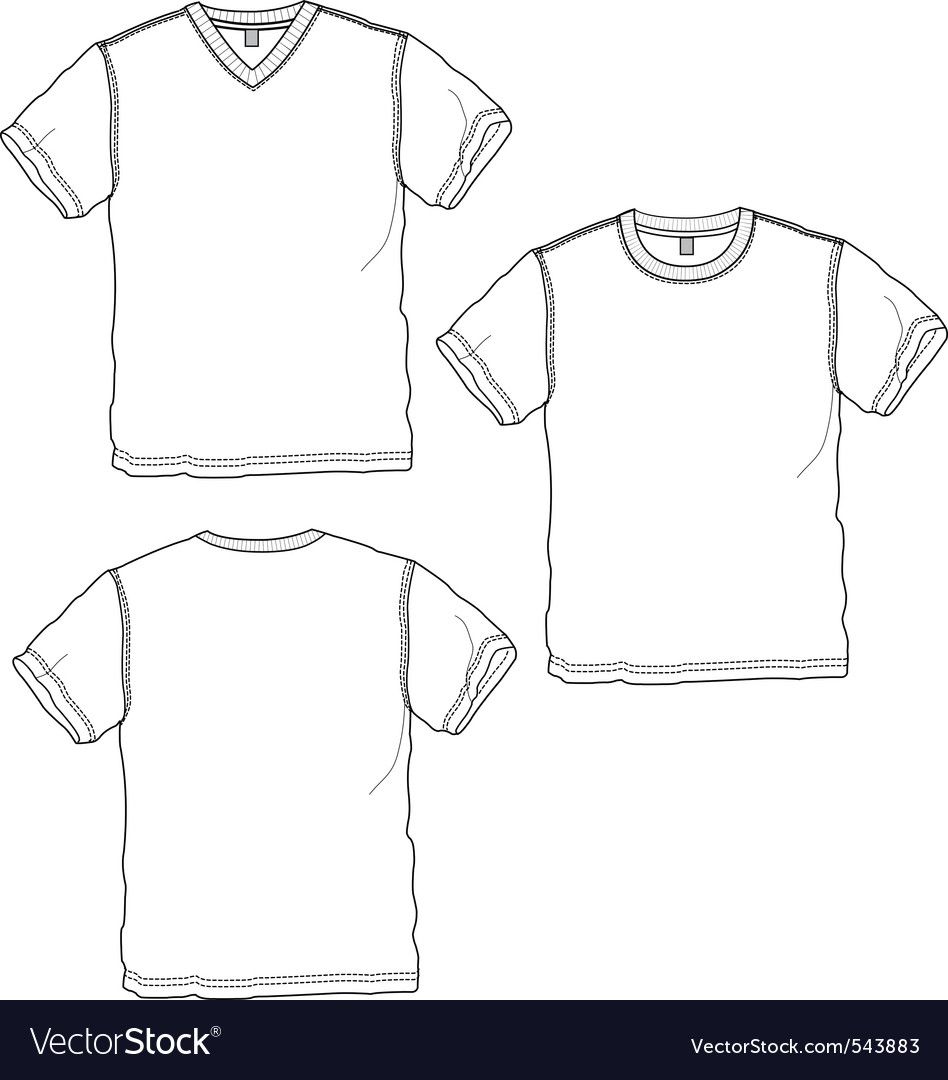 Basic tshirt vector
