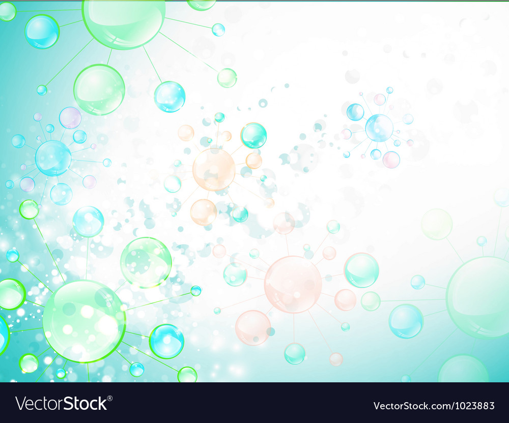 Microbiology cell background vector