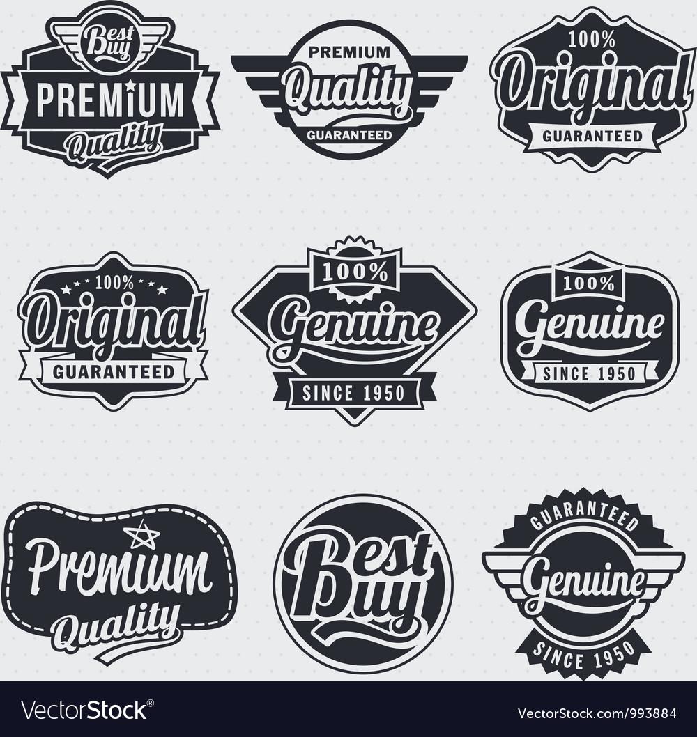 Retro vintage label set vector