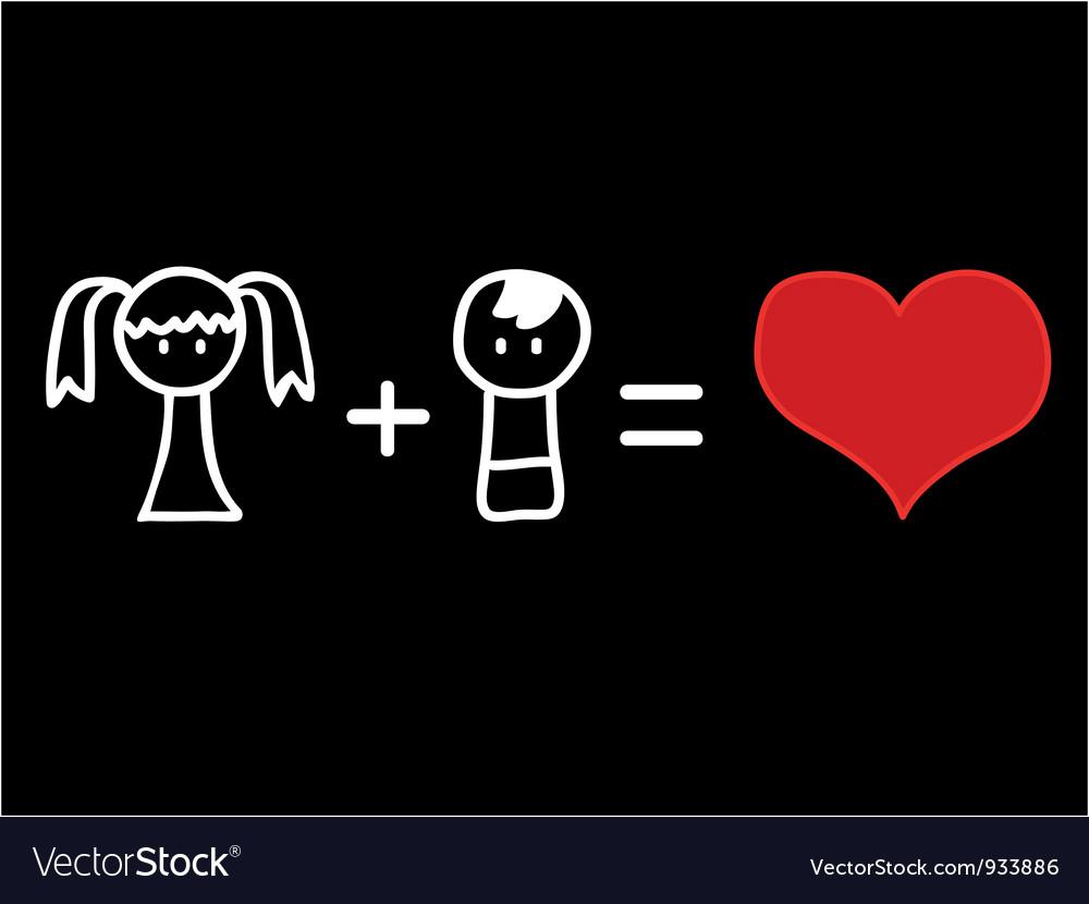 Love mathematics vector