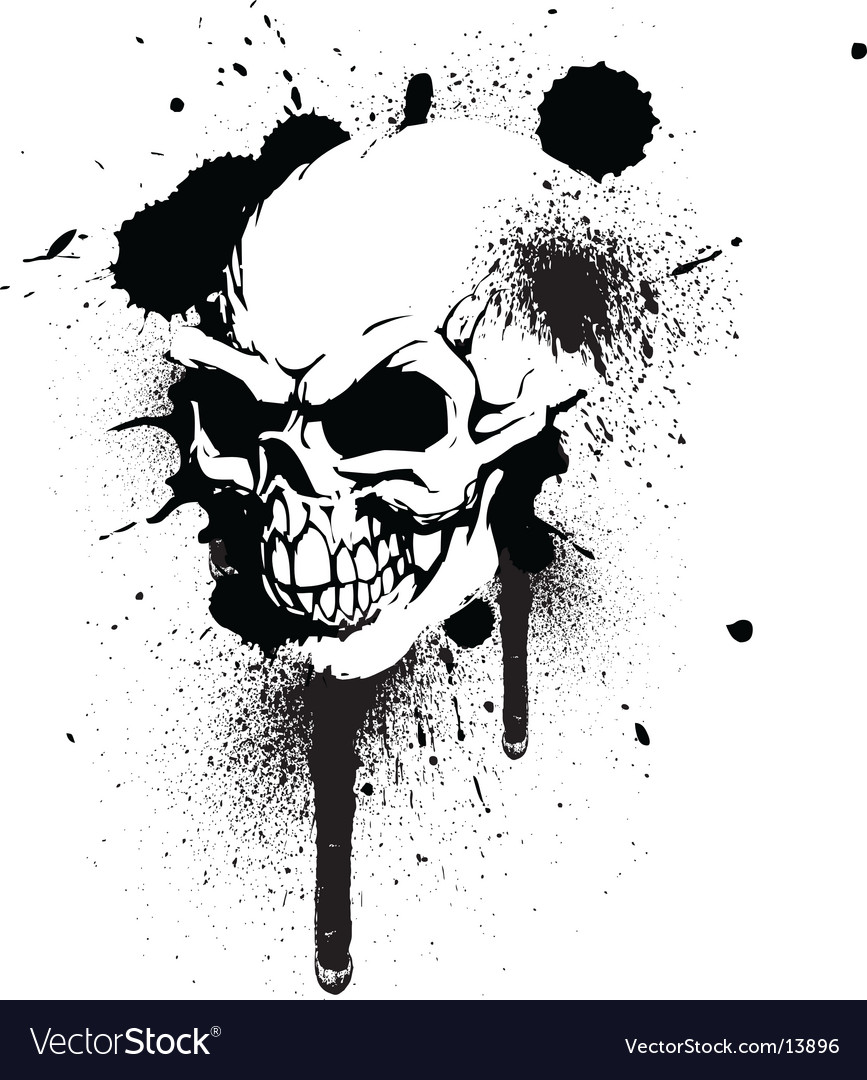 Graffiti skull vector