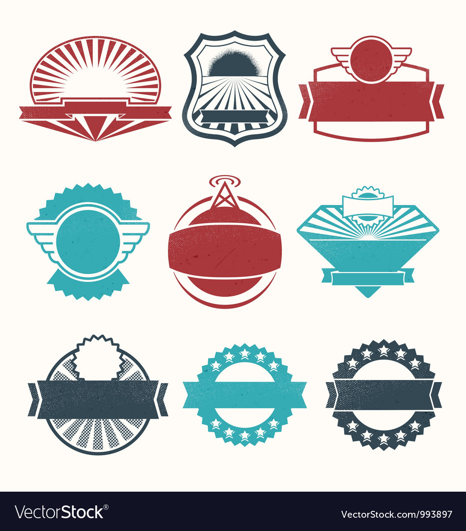 Retro vintage labels vector