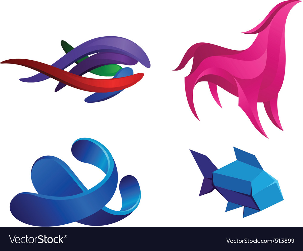 Liquid animals vector