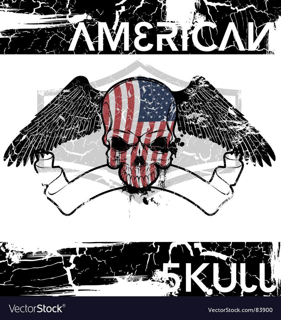 American skull vector
