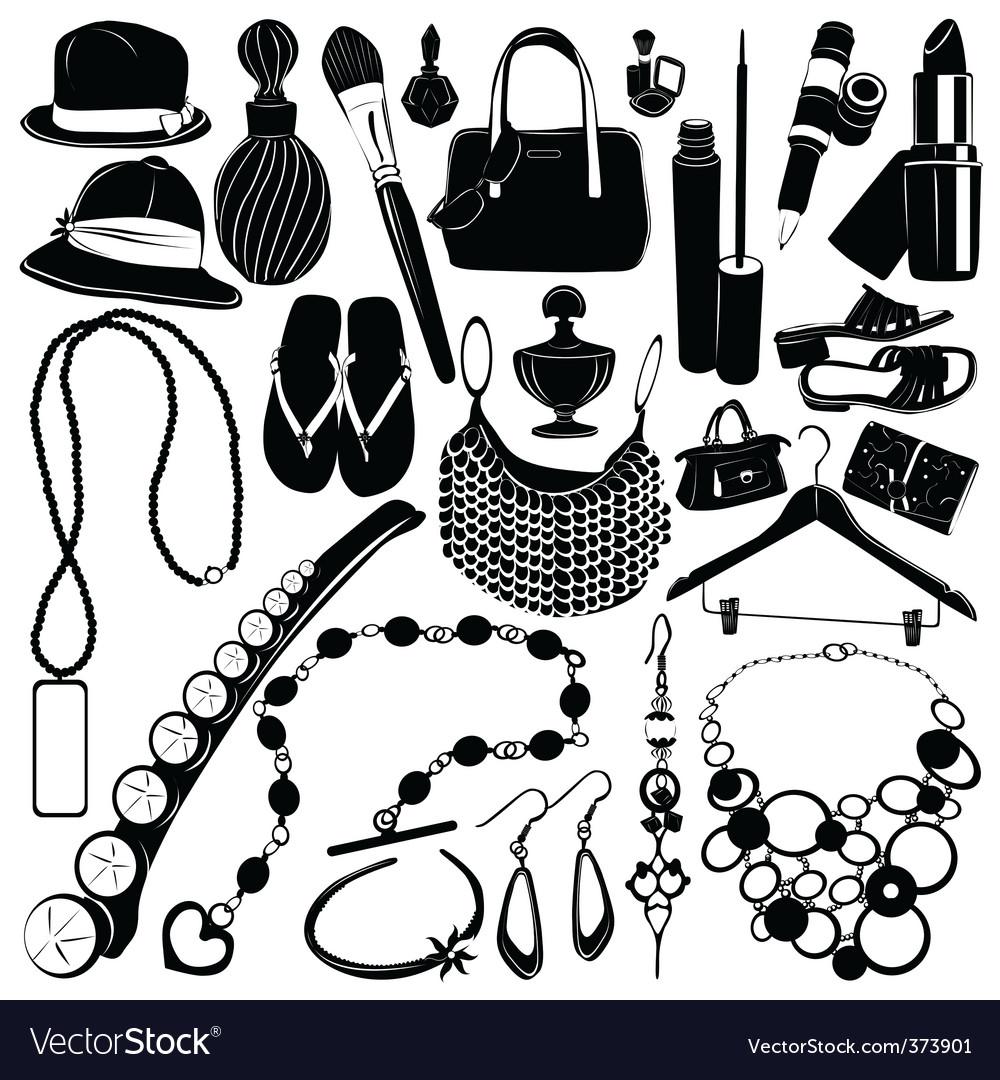 Women accessorie vector