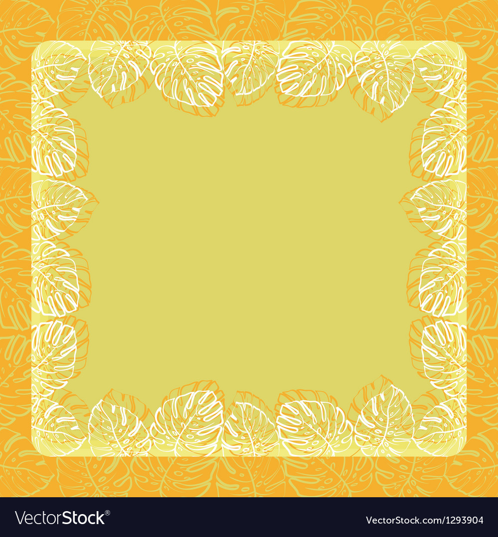 Background frame of leaves vector