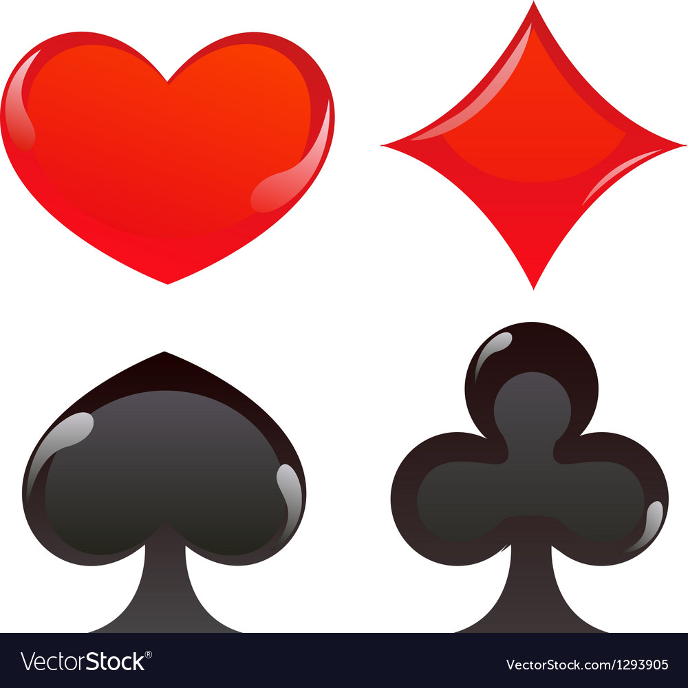 Card suits vector