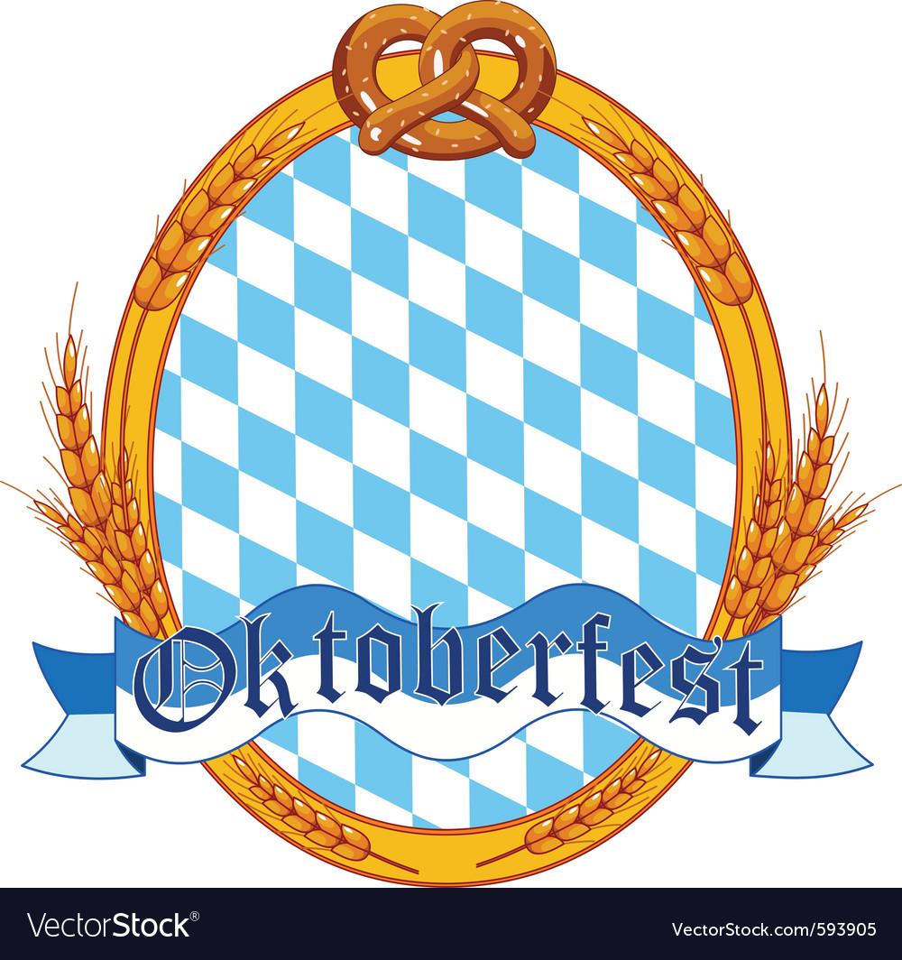 Oktoberfest oval label vector