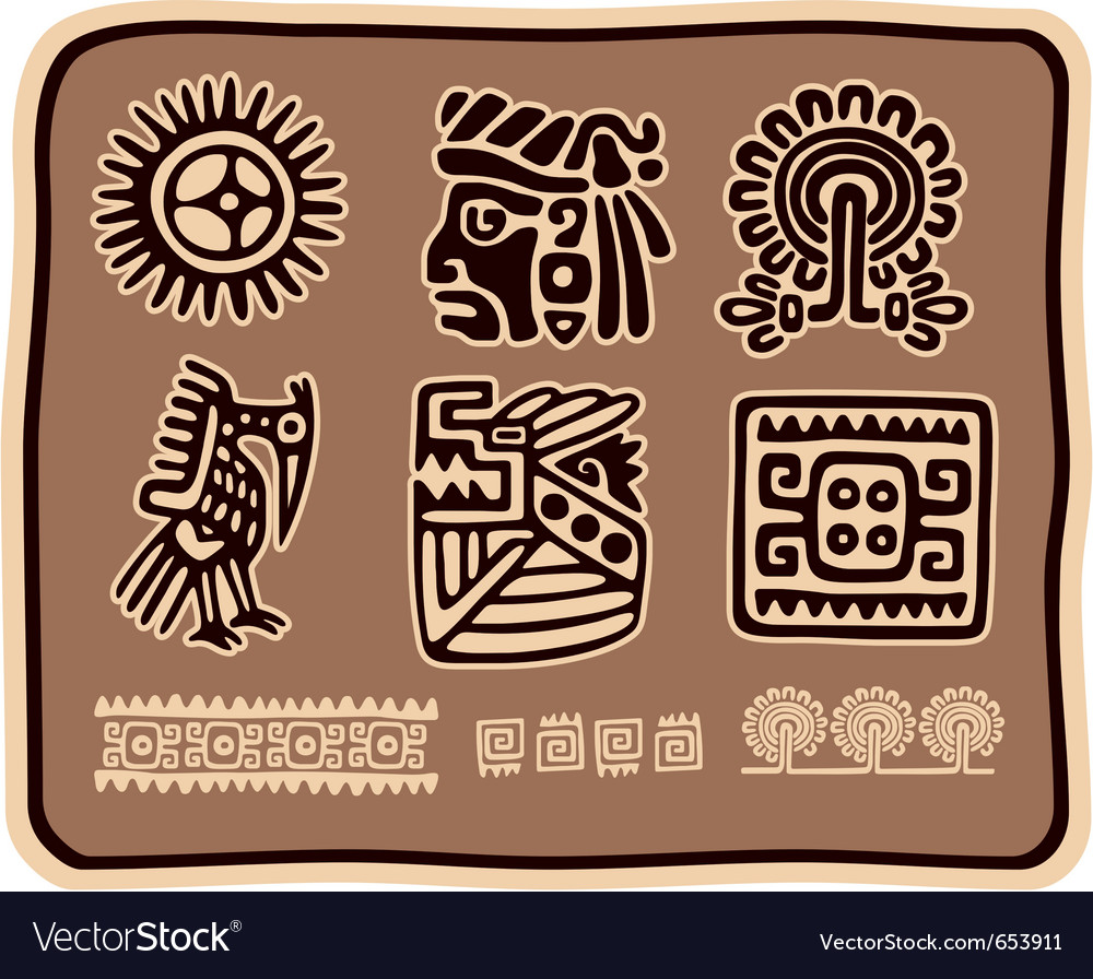 Set of mexican design elements vector