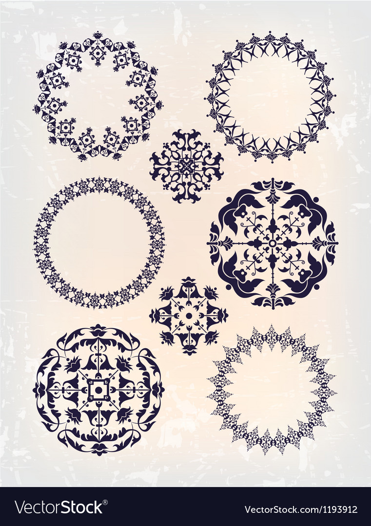 Set of vintage arabic vector