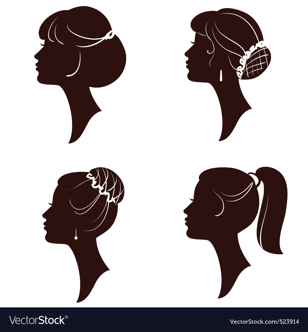 Woman silhouettes vector