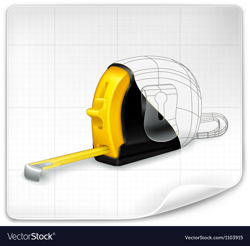 Tape measure drawing vector