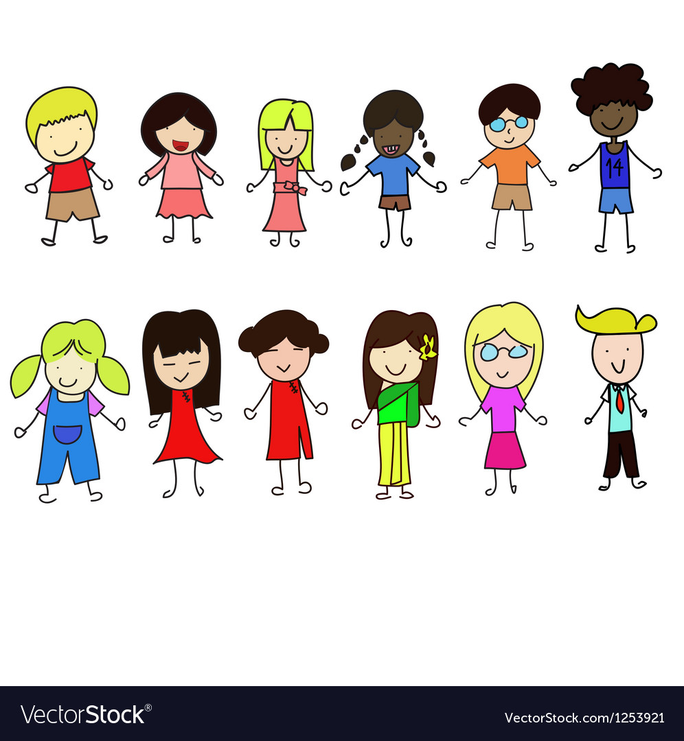 World children set vector