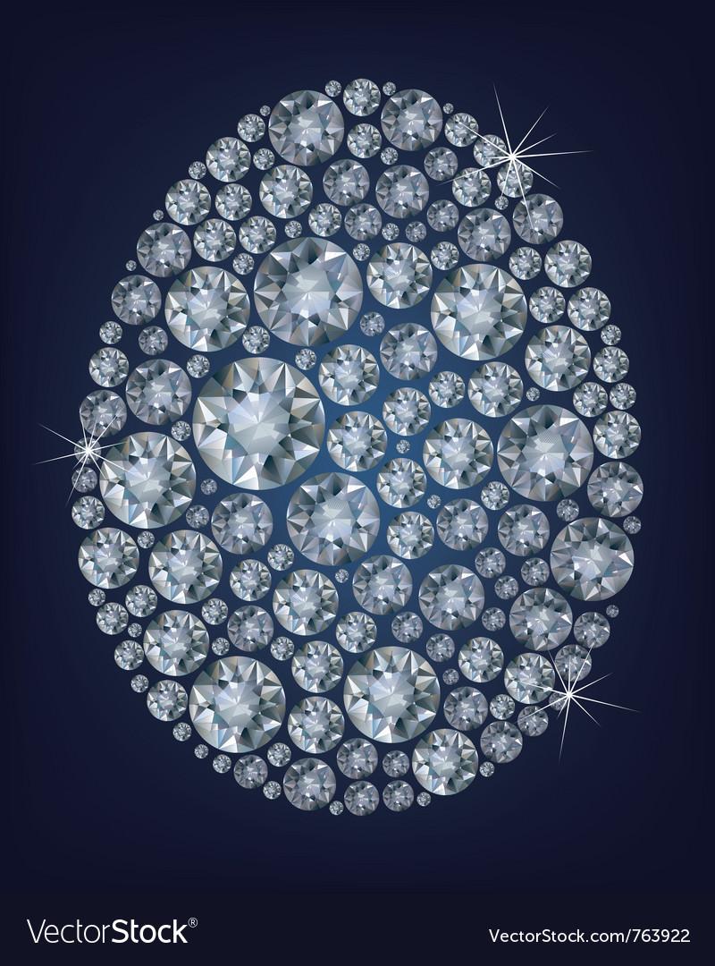 Easter diamond egg vector