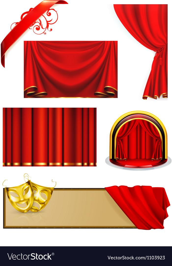 Theater set vector