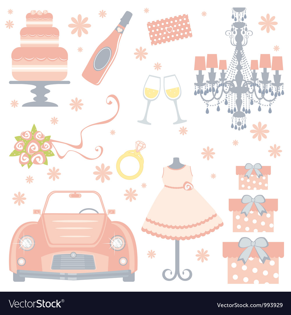 Cute bridal shower vector