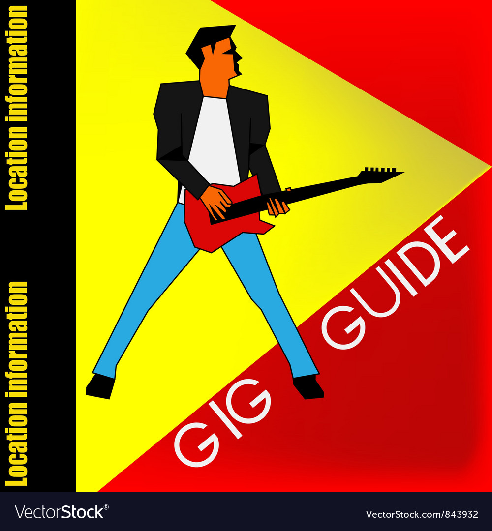 Gig guide background vector