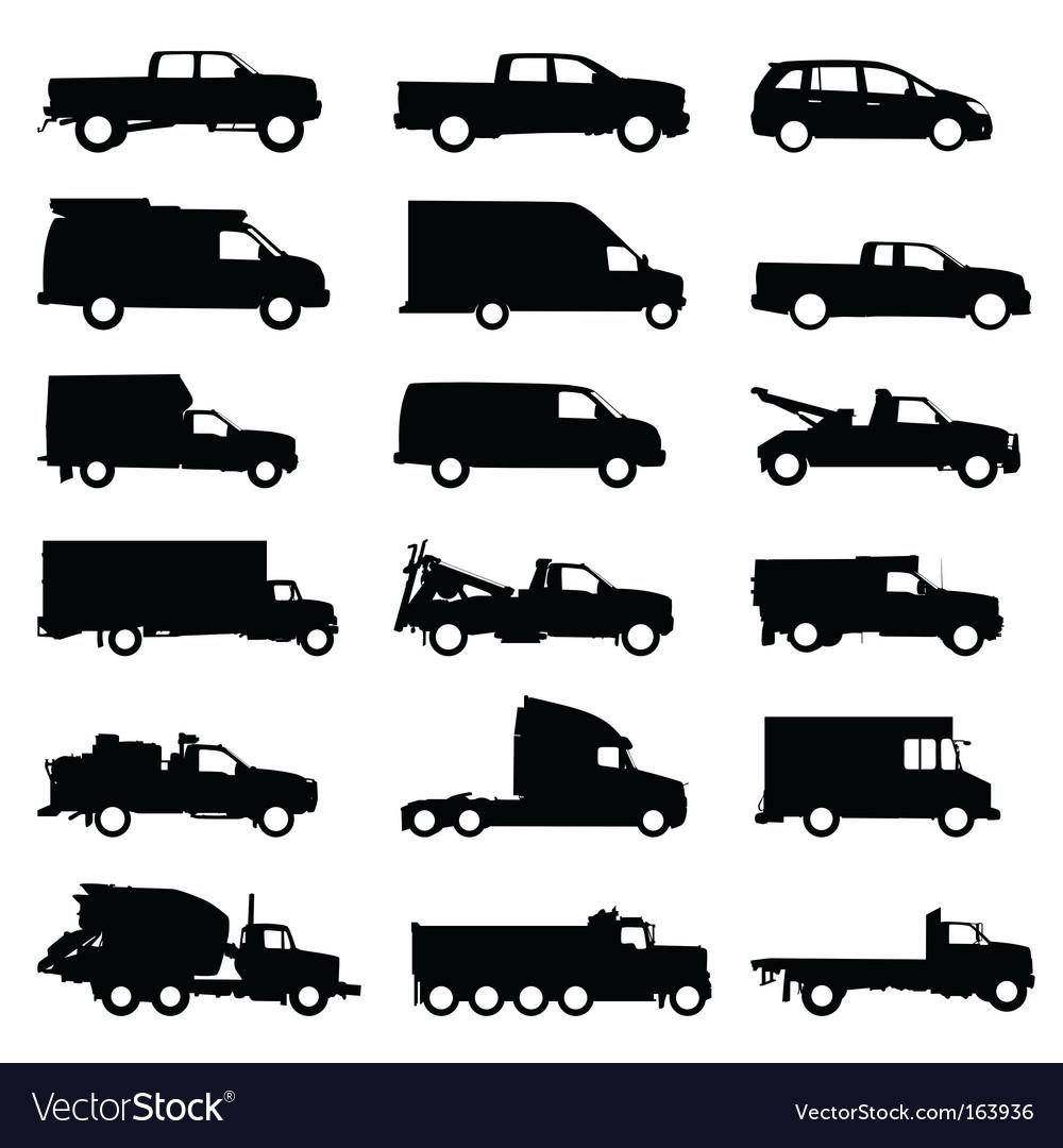Truck set vector