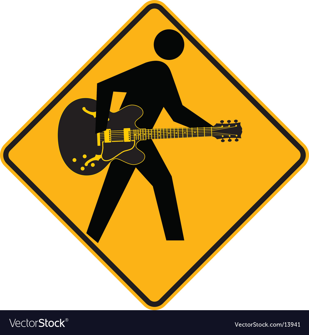 Guitar sign vector