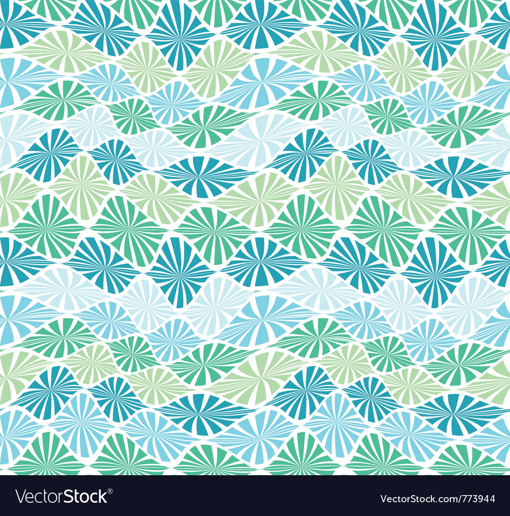 Abstract sea grass seamless wave pattern vector
