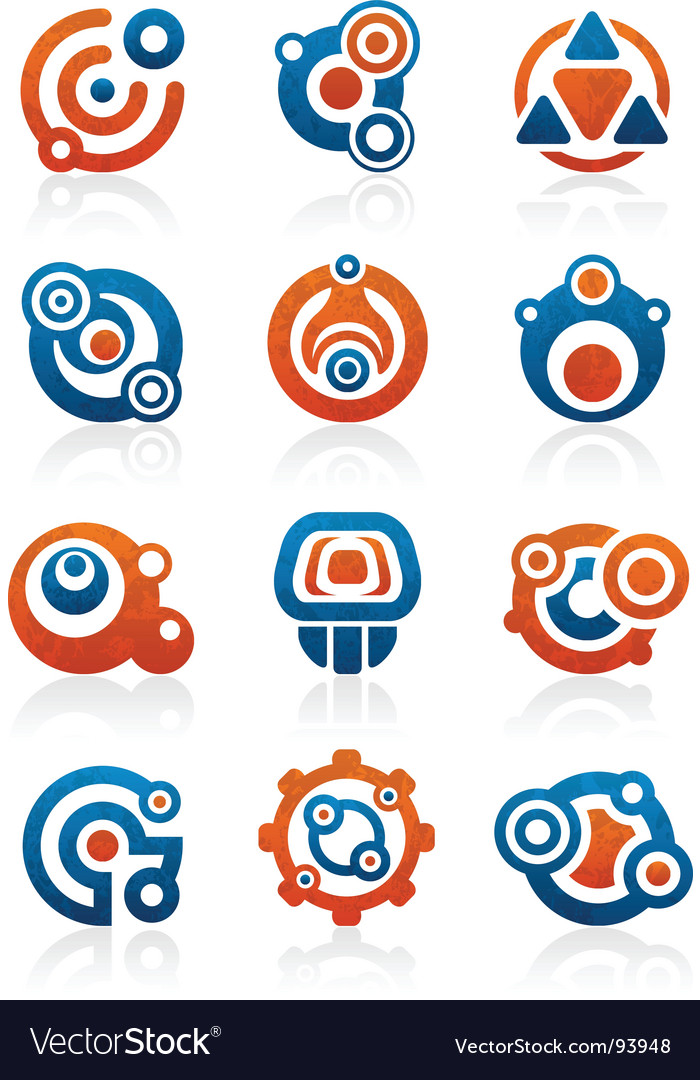 Abstract tribal icons and symbols vector