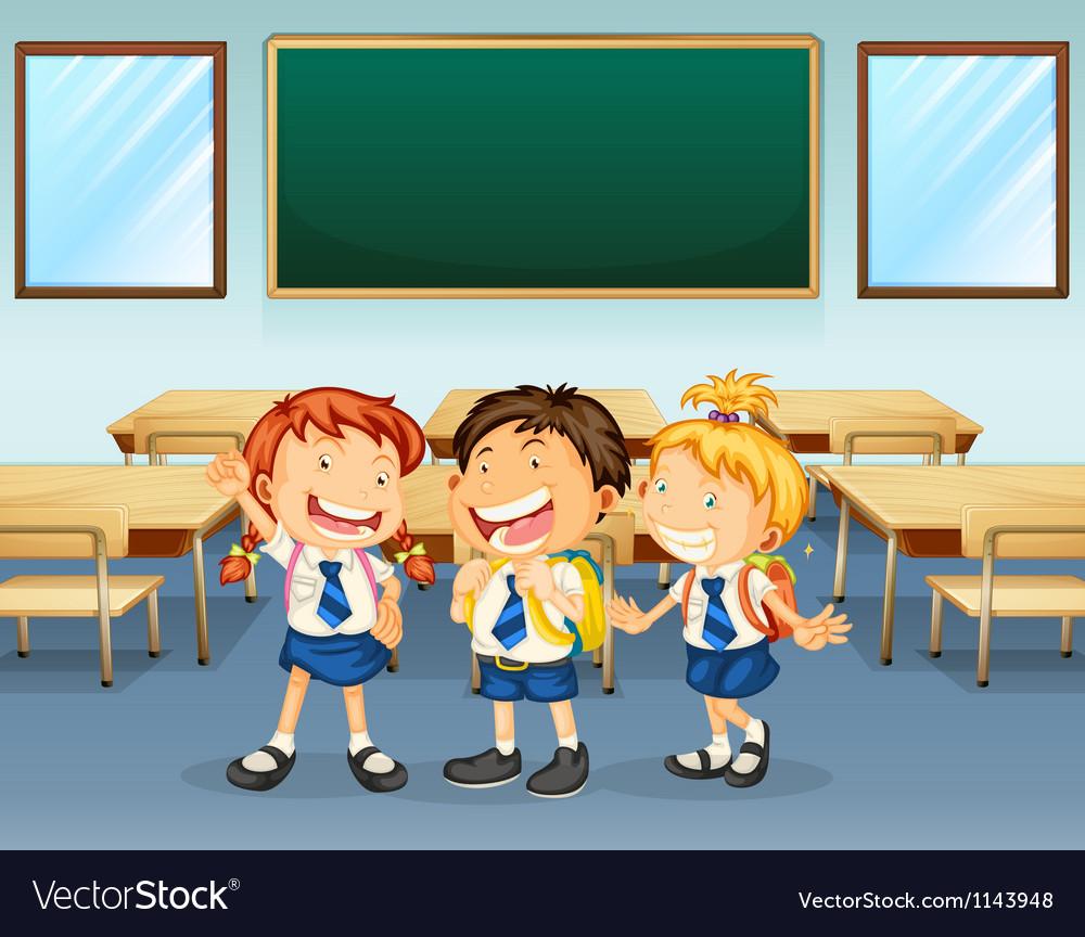 Happy students vector