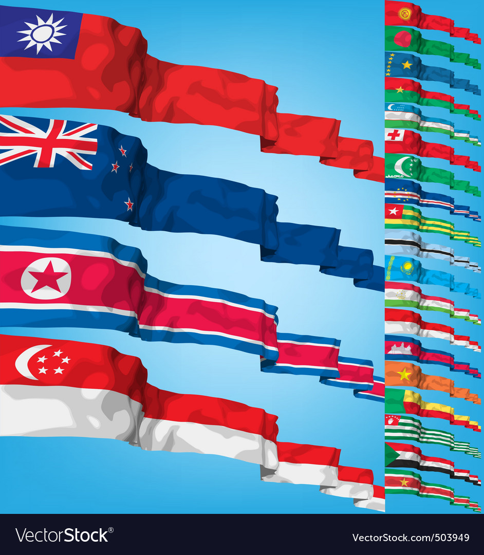 Set 2 of world flags vector