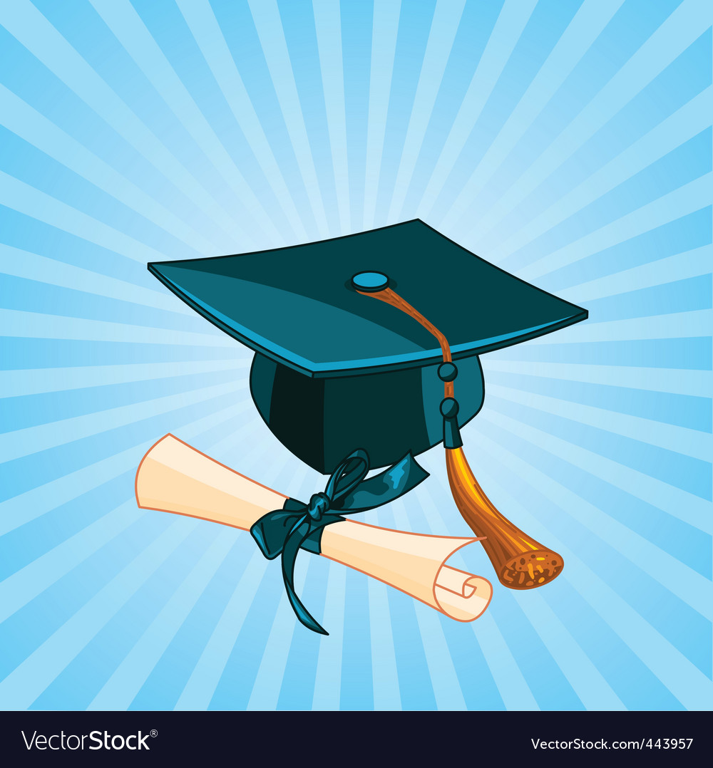Graduation cap vector