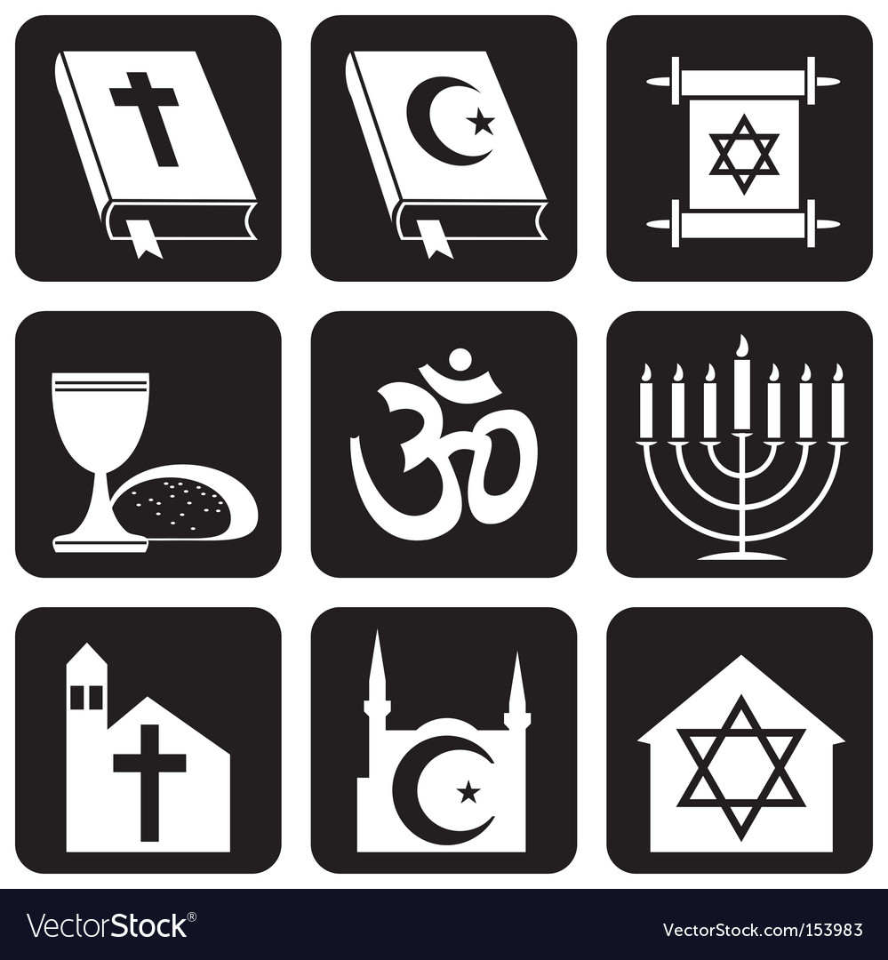 Religion icons vector