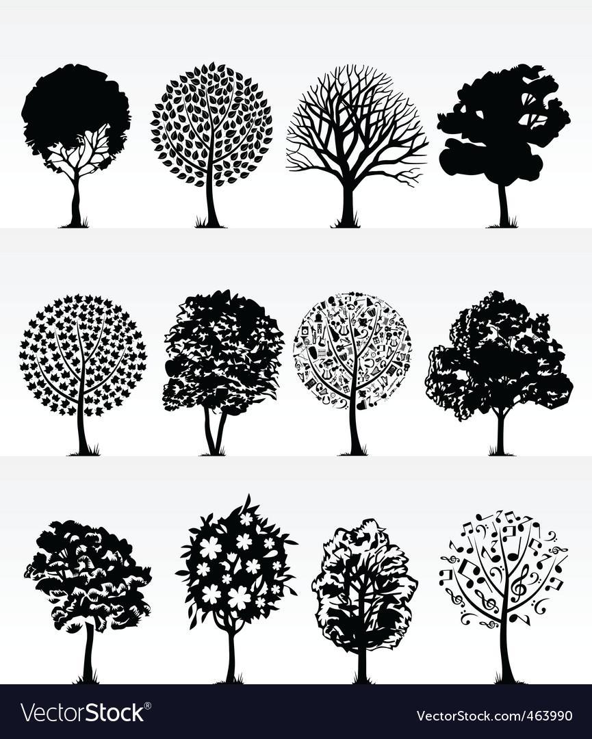 Park trees2 vector