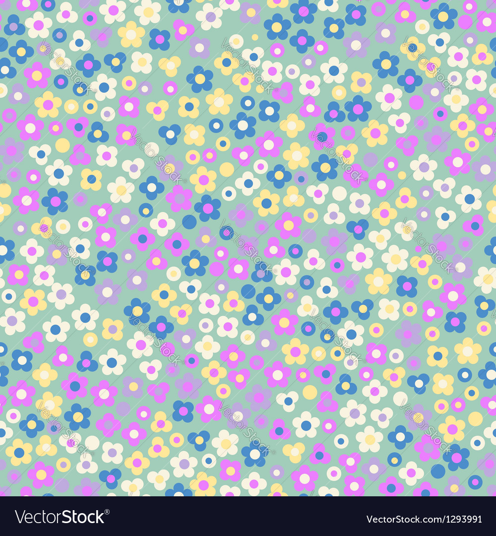 Seamless pattern displaying floral vector