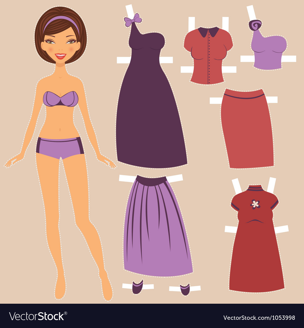Paper doll vector