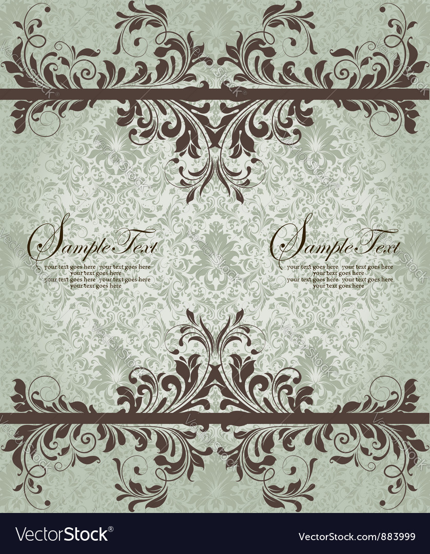 Ornate damask background vector