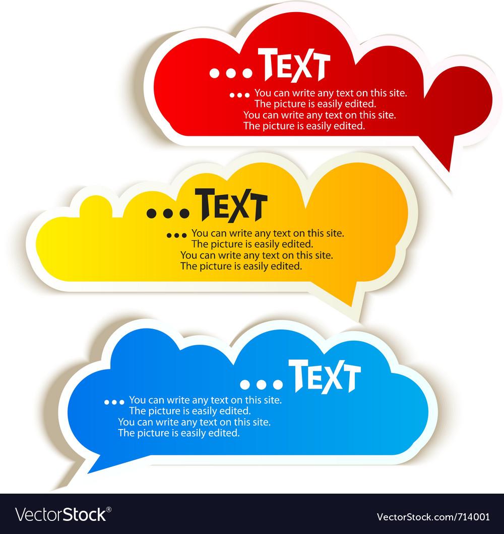 Paper speech bubble vector