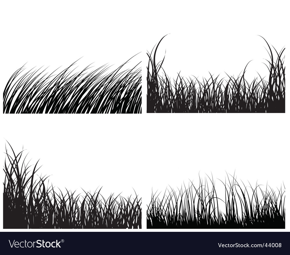 Set of grass backgrounds vector