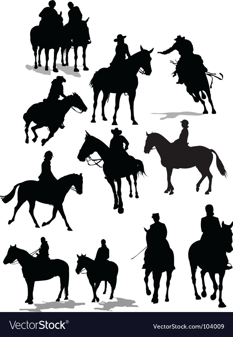 Horse riders vector