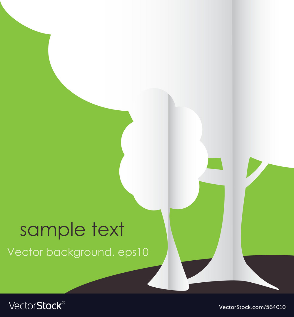 Abstract stylized origami tree vector