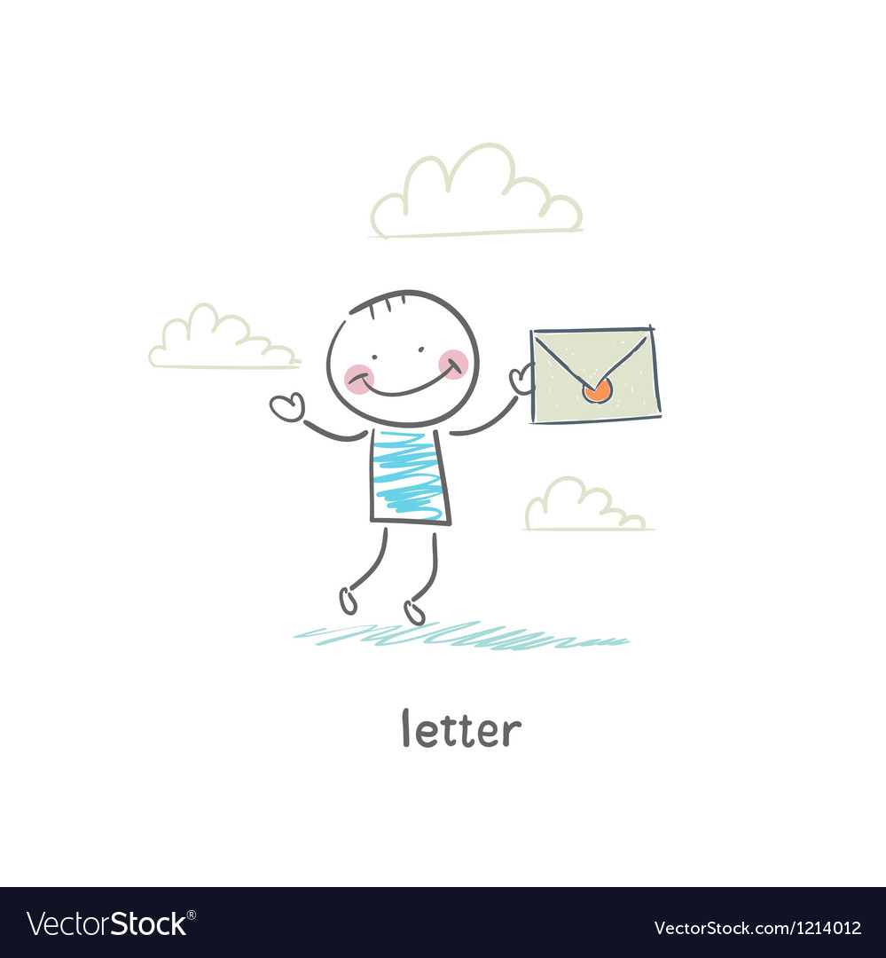 A man and a letter vector