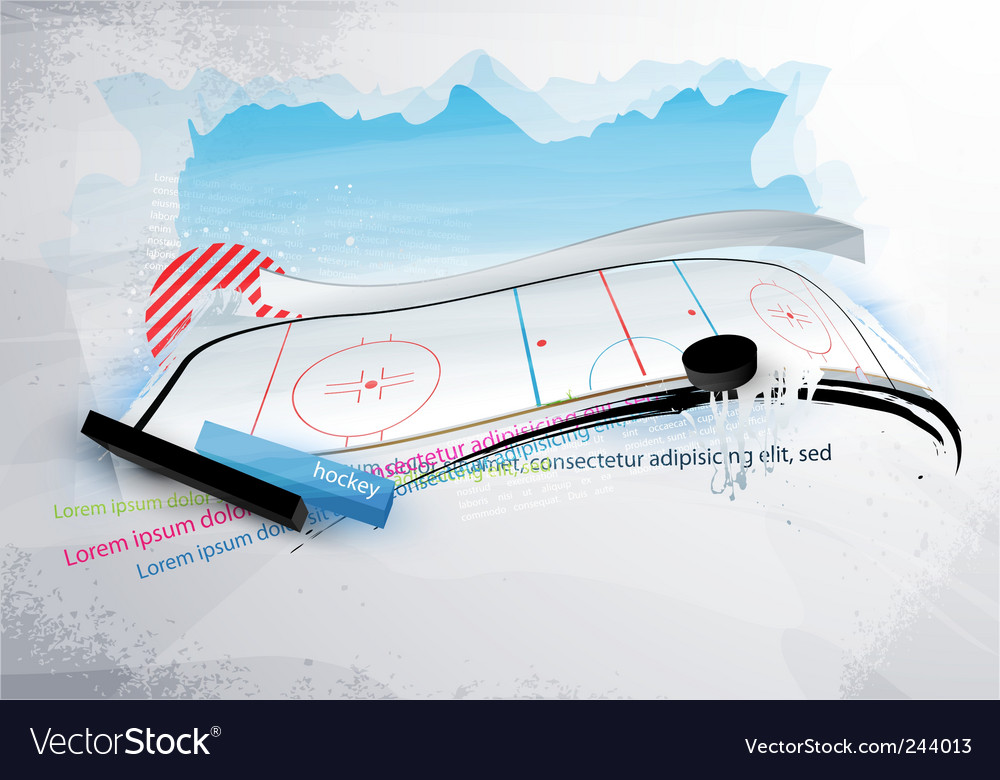 Grunge hockey banner vector