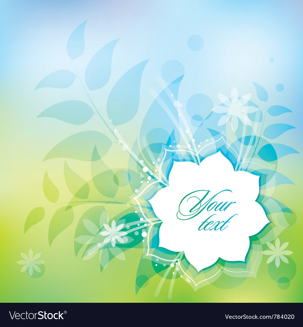 Spring abstract vector