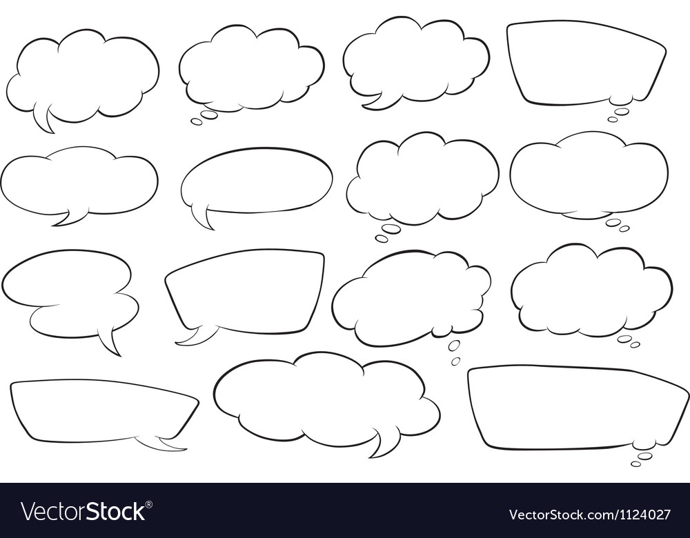 Various shapes of speech bubbles vector