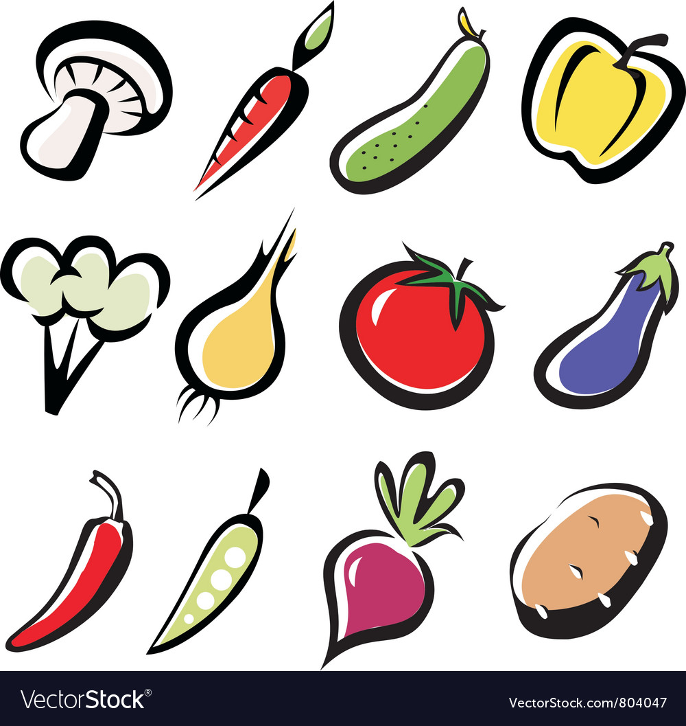 Vegetables 3 vector