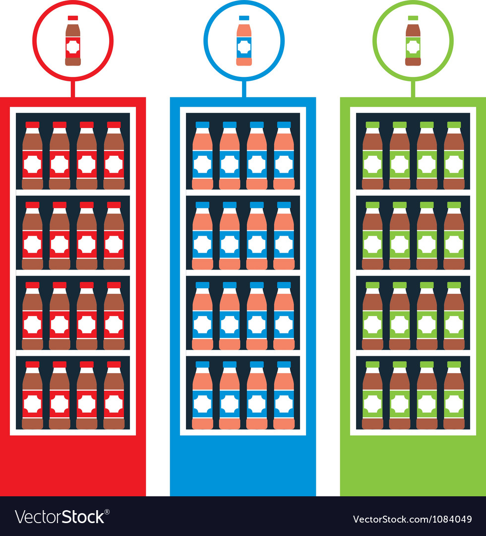 Shop with drinks vector