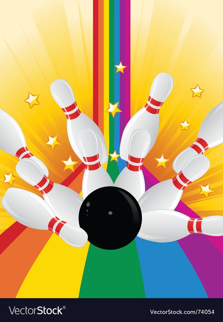 Bowling strike vector