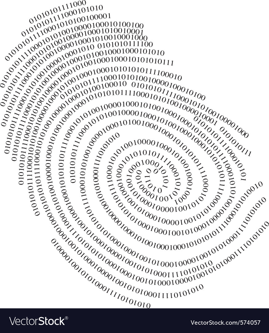 Binary finger print vector