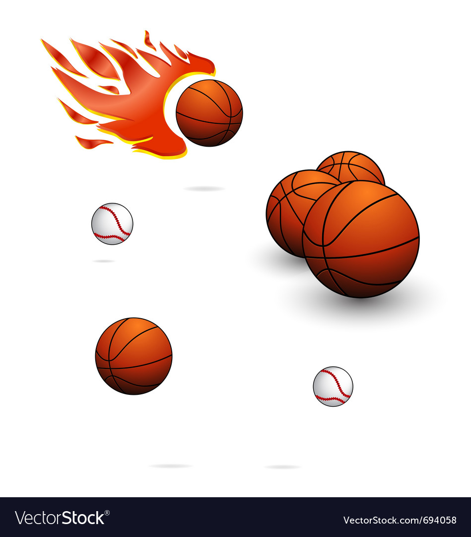 Sport balls sign set vector