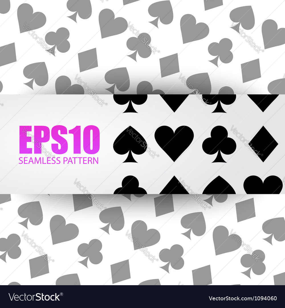 Seamless background playing card symbols vector