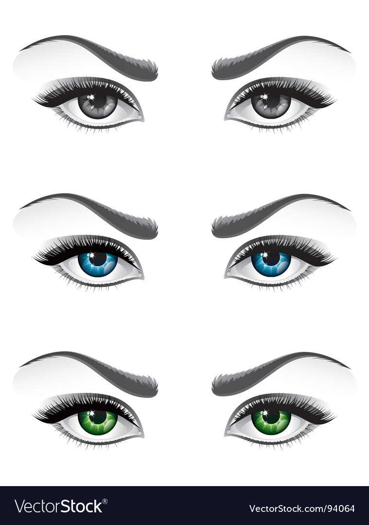 Woman eyes vector